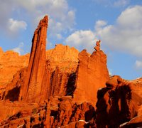 Rock Climbing Photo: Ancient Art near sunset