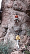 Rock Climbing Photo: Arjun and DAS trying to figure out the opening seq...
