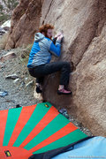 Rock Climbing Photo: Chris Keller starts Fluer de Lis. Dec 2011