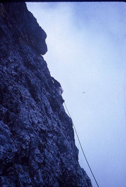 Rock Climbing Photo: Giacomo Scalet running it out on pitch 2.