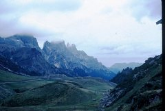 Rock Climbing Photo: The summit in photo center is the Cima della madon...
