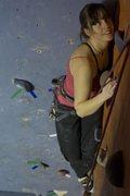 Rock Climbing Photo: No one puts Genevieve in the corner!