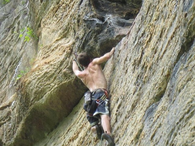 Bathtub mary 5.11a; one of the best 11a's in the red