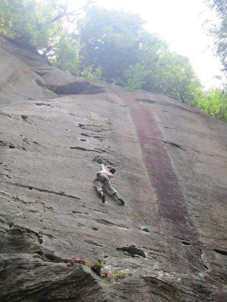 Rock Climbing Photo: big moves on amarillo sunset 11b