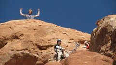 Rock Climbing Photo: on top of owl rock, arches national park