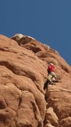 Rock Climbing Photo: owl rock 5.8 arches national park