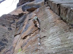 Rock Climbing Photo: scabies 5.9+; RRG