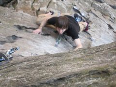 Rock Climbing Photo: one of the best 5.8's in the red; 27 years of clim...