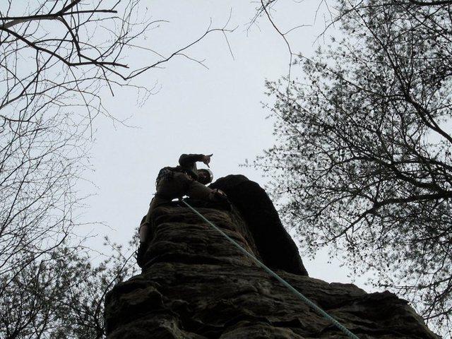on top of arrowhead, 5.7 R(ish) spire