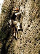 Rock Climbing Photo: A.W.O.L. 5.10; roadside, RRG