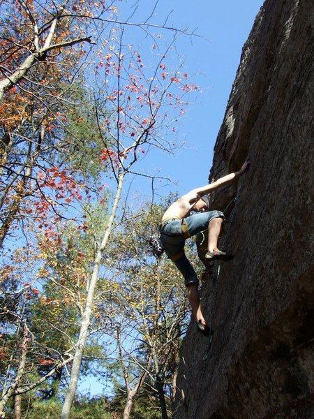 Rock Climbing Photo: just duet 5.10d, RRG