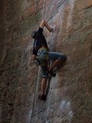 Rock Climbing Photo: to defy the laws of tradition, 5.10a; one of the b...