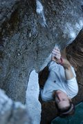 Rock Climbing Photo: The mechanic v6, yosemite vally