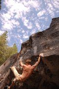 Rock Climbing Photo: unnamed v5, B-1 boulder: sentinel bouldering