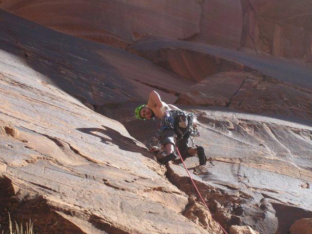 Rock Climbing Photo: Thomas Thompson on a cool 5.10 at ice cream parol,...