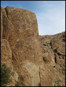 Rock Climbing Photo: Angel's Desire profile. The route goes up near the...