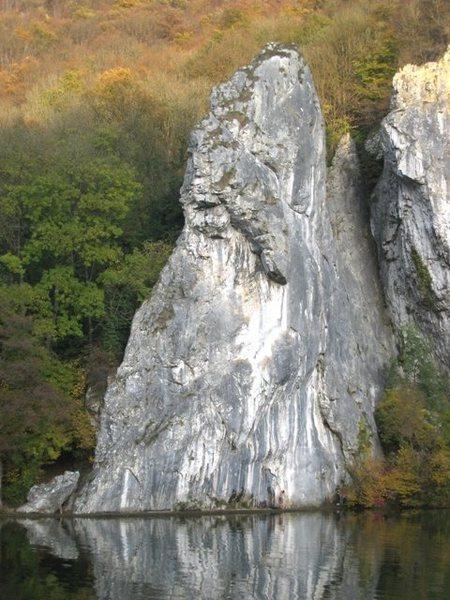 Rock Climbing Photo: La Tête du Lion climbs the left edge of this face