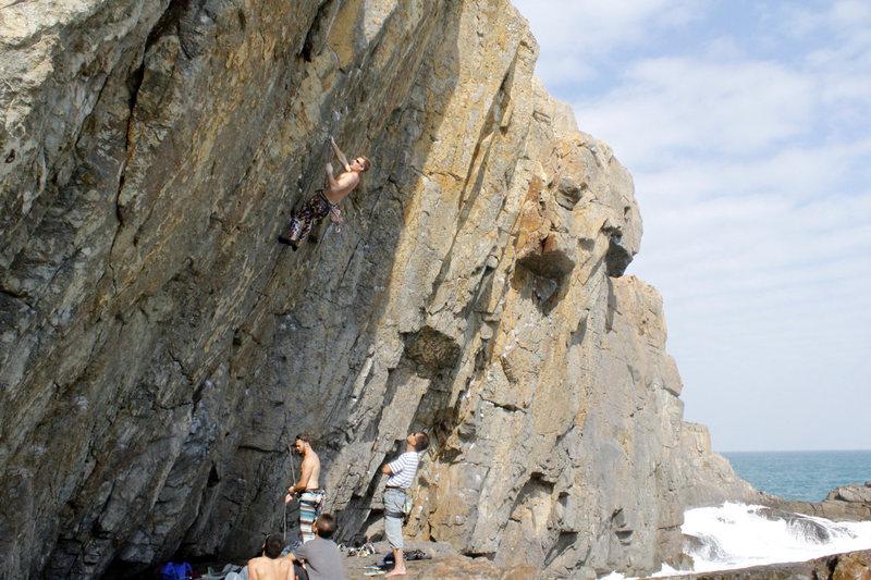 Rock Climbing Photo: me leading Black Ring