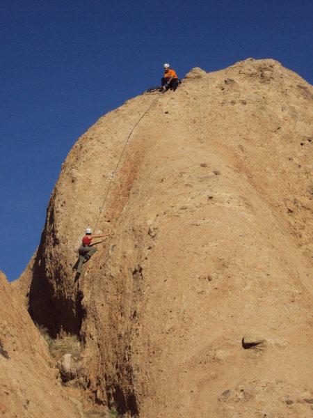 Climbers on OrangOtang.