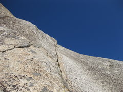 Rock Climbing Photo: 17-December-2011: Looking up the sweet finger crac...