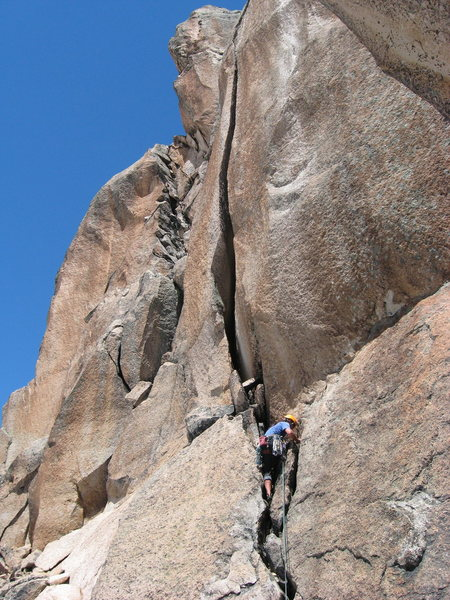 Josh leading a pitch on Clemenzo.  The OW looked intimidating, but I think we went to the left.