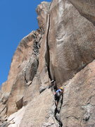 Rock Climbing Photo: Josh leading a pitch on Clemenzo.  The OW looked i...
