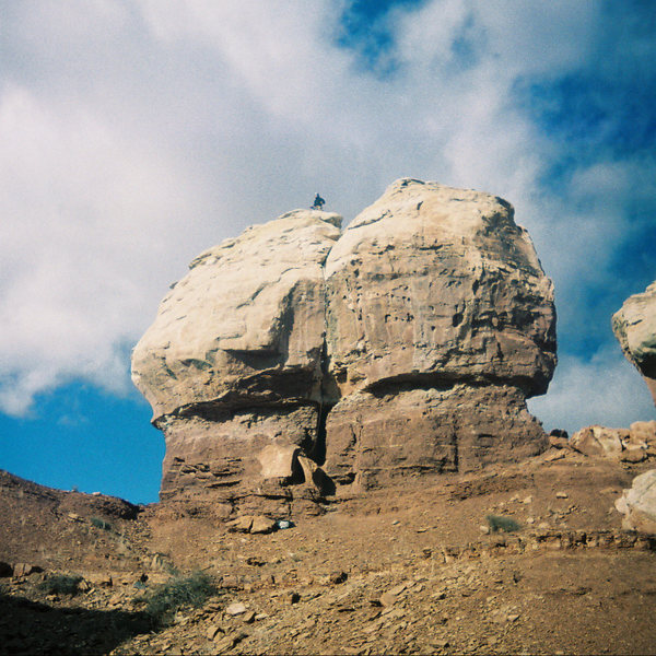 A photo of Twin Rocks.  This is the south face.  The North Face Crack climbs the other side.