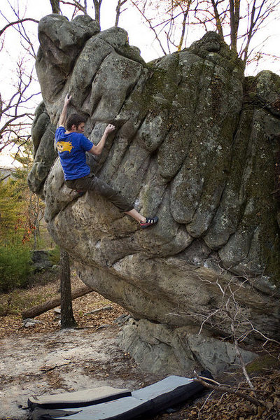 Doug Fischer climbing Cockblock