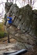 Rock Climbing Photo: Doug Fischer climbing Cockblock