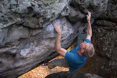 Rock Climbing Photo: Eric Heiden climbing the Hunger Artist stand start