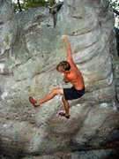 Rock Climbing Photo: Unknown climber on Standard American Accent.