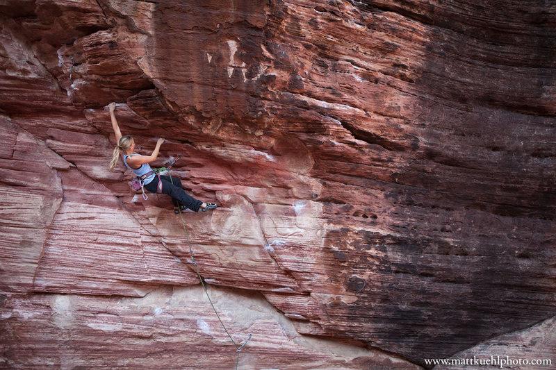 Rock Climbing Photo: Lindsey Gram.  Dec 2011  mattkuehlphoto.com