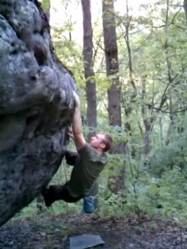 Rock Climbing Photo: Eric Heiden on the open move of the First Church o...
