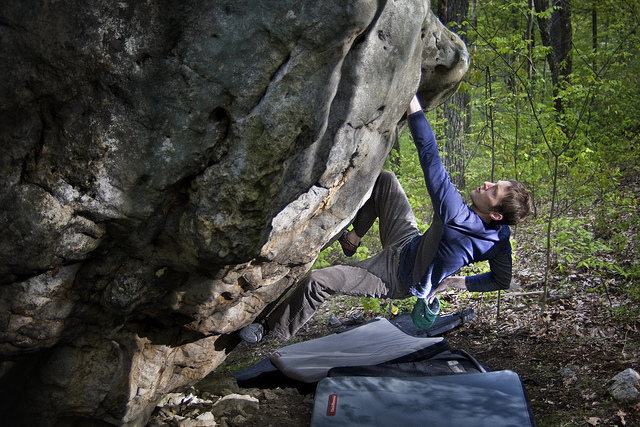 Rock Climbing Photo: Doug Fischer on the FA of The First Will Be Last