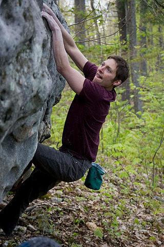 Rock Climbing Photo: Doug Fischer making a classic 'try hard' face.