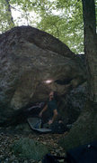 Rock Climbing Photo: Doug Fischer cleaning up this not-often-climbed pr...