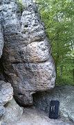 Rock Climbing Photo: Left of the arete is Beer Milkshake
