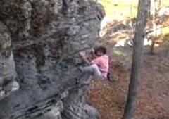 Rock Climbing Photo: Jim Bowers climbing the Sweet Arete