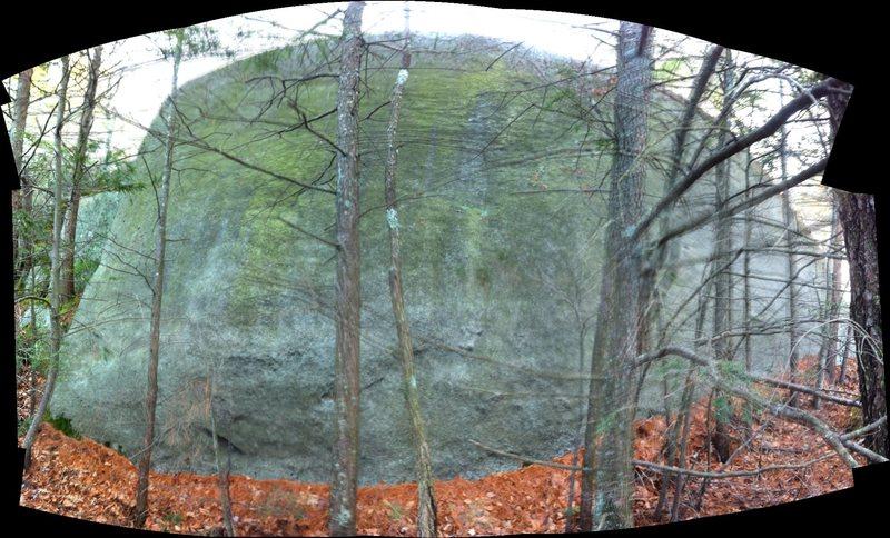 Rock Climbing Photo: Unknown wall near Redrock main face.