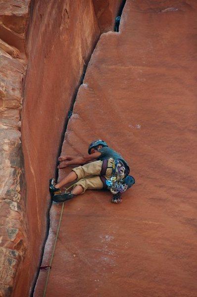 Rock Climbing Photo: Lie Back Section!