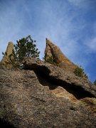 Rock Climbing Photo: Tent Peg! Small seat!