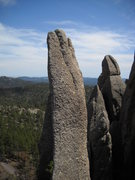 Rock Climbing Photo: View of the nail from superpin
