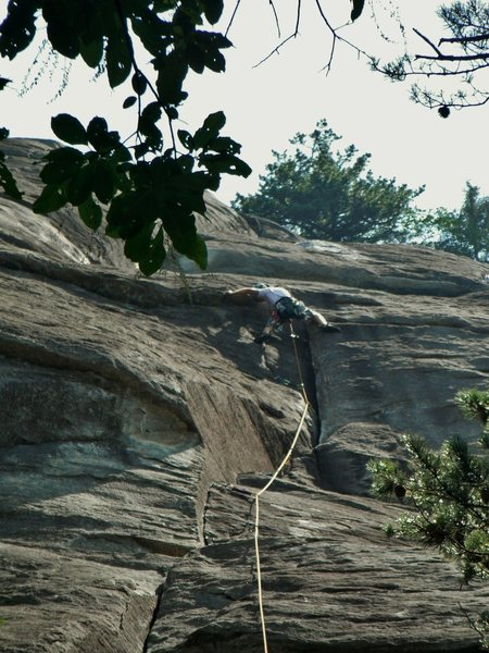 Rock Climbing Photo: First Return moving through what I think is the cr...