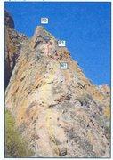 Rock Climbing Photo: Beta shot of Reveil Matin