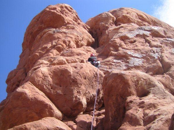 Rock Climbing Photo: Near Moab.