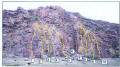 Rock Climbing Photo: Beta shot of Area 1