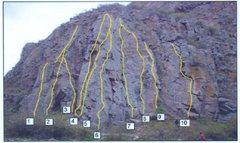 Rock Climbing Photo: Beta shot for Memorial Area