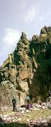 Rock Climbing Photo: The left side of the wall.  That top prow is what ...
