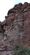 Rock Climbing Photo: DAS eying the approach to get to the off-width str...