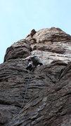 Rock Climbing Photo: DAS approaching the crux.